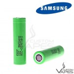 Samsung INR 18650 25R 36V 2500mAh Green Flat Top Battery